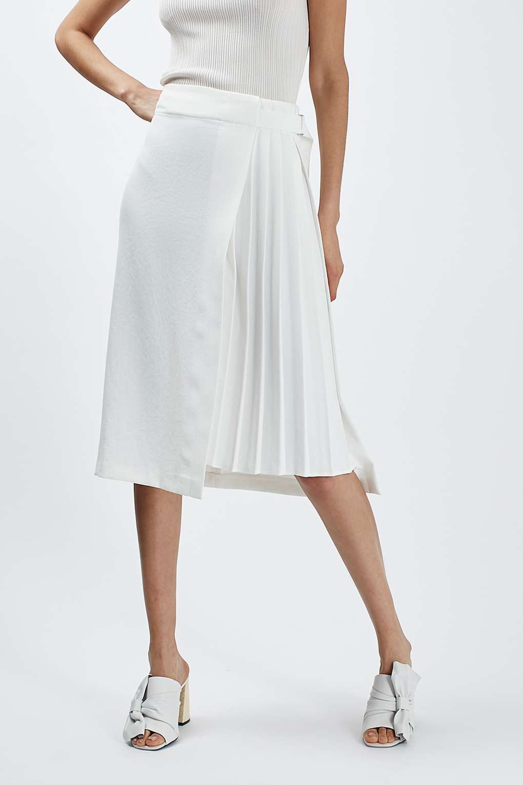 TOPSHOP PLEATED DETAIL MIDI SKIRT 2