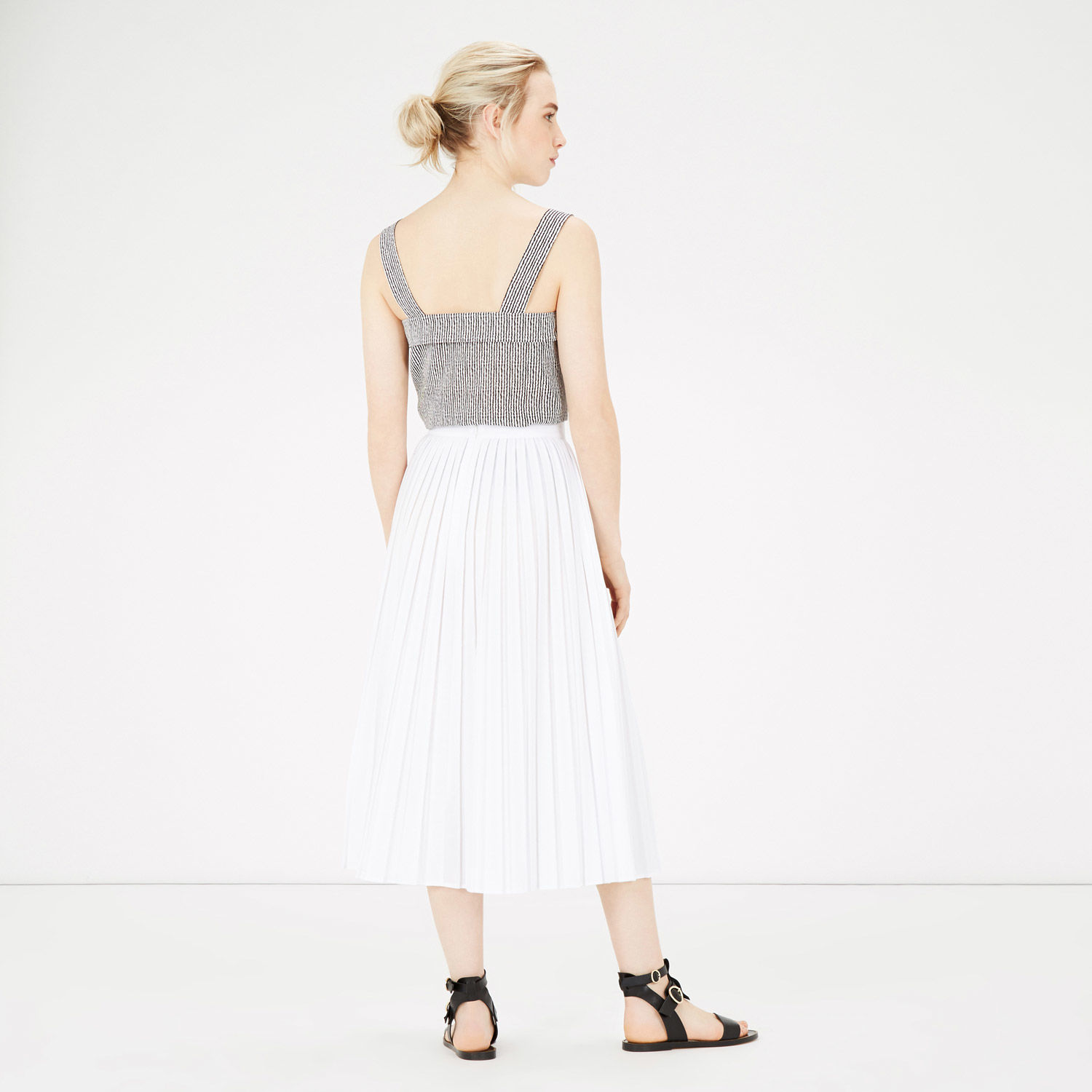 WAREHOUSE PLEATED COTTON SKIRT.jpg